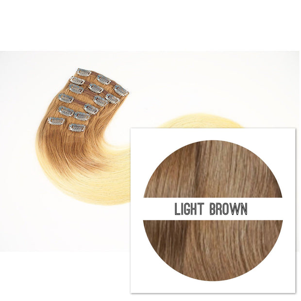 Clips 2 part Colors LIGHT BROWN_Retail price - GVA hair