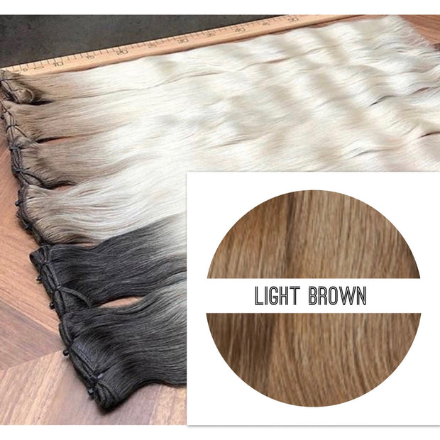 Wefts Colors LIGHT BROWN GVA hair_Retail price - GVA hair