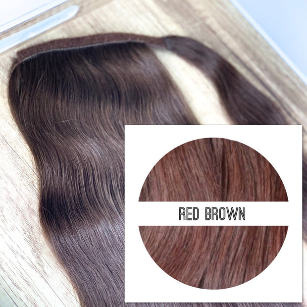 Ponytail Colors RED BROWN - GVA hair