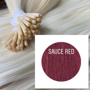 Micro links Color Sauce red GVA hair_Retail price - GVA hair