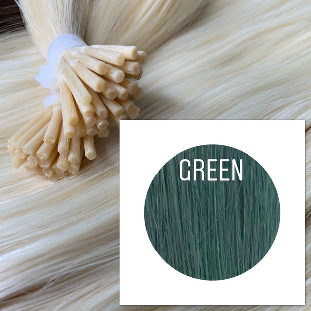 Micro links Color Green GVA hair - GVA hair