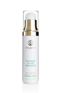 Hylunia oil free moisturizer for acne prone and sensitive skin