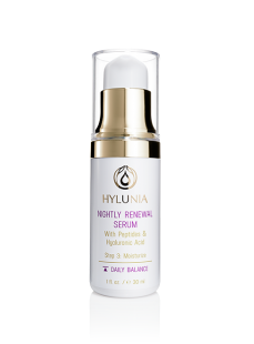 Hylunia Night Renewal Serum, Anti-age and Sensitive Skin Care