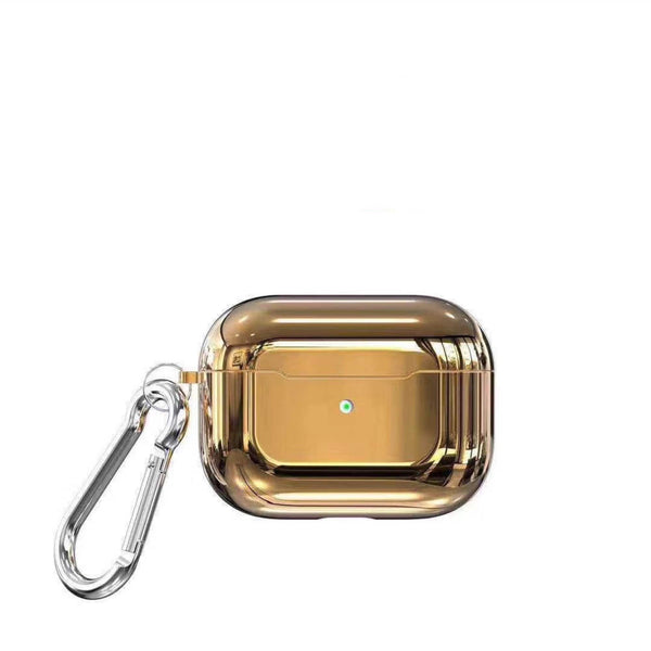 Metallic Mirror Carabiner Protective Case For Apple Airpods Pro - techypopcom
