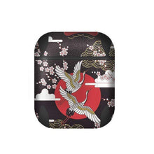 Load image into Gallery viewer, Ukiyo-e Japanese Bird Black Silicone Protective Shockproof Case For Apple Airpods 1 & 2 - Techypop.com