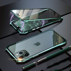 All Wrap Tempered Glass Bumper Frame Shockproof Protective Designer iPhone Case For iPhone SE 11 Pro Max X XS Max XR 7 8 Plus - techypopcom