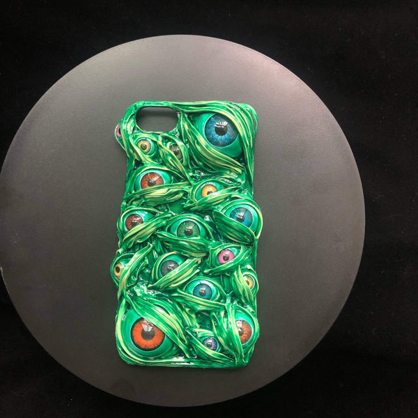 Green Venom & The Eyes Handmade Designer iPhone Case For iPhone SE 11 Pro Max X XS Max XR 7 8 Plus - techypopcom