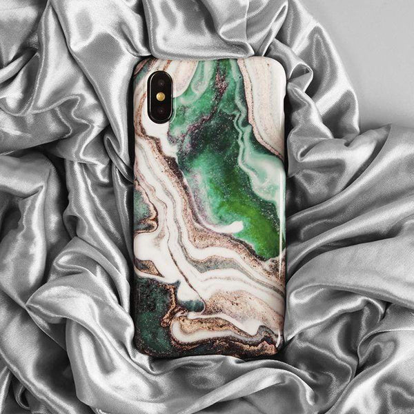 Greensmith Marble Silicone Shockproof Protective Designer iPhone Case For iPhone SE 11 Pro Max X XS Max XR 7 8 Plus - techypopcom