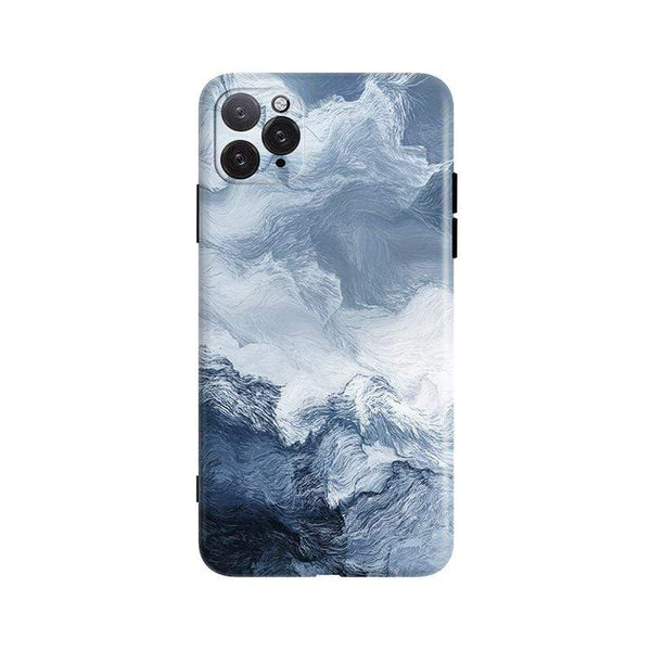 Ocean Waves Silicone Shockproof Protective Designer iPhone Case For iPhone SE 11 Pro Max X XS Max XR 7 8 Plus - techypopcom