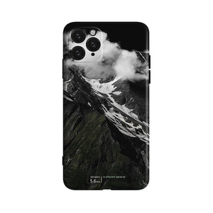 Smoke & Mountain Silicone Shockproof Protective Designer iPhone Case For iPhone SE 11 Pro Max X XS Max XR 7 8 Plus - techypopcom