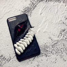 Load image into Gallery viewer, Monster Teeth Red Eye Handmade Designer iPhone Case For iPhone SE 11 Pro Max X XS Max XR 7 8 Plus - techypopcom
