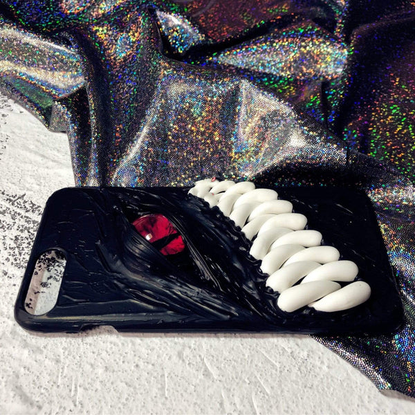 Monster Teeth Red Eye Handmade Designer iPhone Case For iPhone SE 11 Pro Max X XS Max XR 7 8 Plus - techypopcom