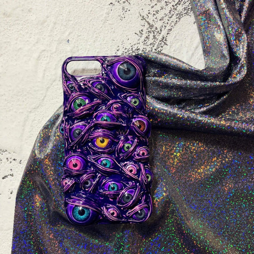 Purple Venom & The Eyes Handmade Designer iPhone Case For iPhone SE 11 Pro Max X XS Max XR 7 8 Plus - techypopcom