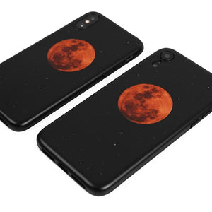 Red Moon Silicone Shockproof Protective Designer iPhone Case For iPhone SE 11 Pro Max X XS Max XR 7 8 Plus - techypopcom