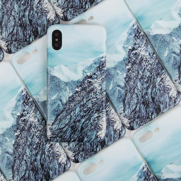 Snow Mountain Silicone Shockproof Protective Designer iPhone Case For iPhone SE 11 Pro Max X XS Max XR 7 8 Plus - techypopcom