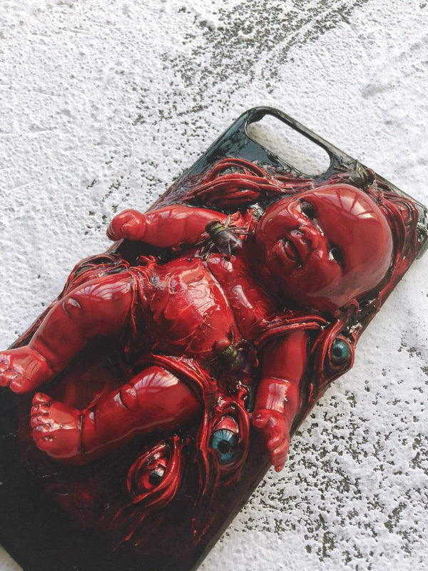 The Blood Baby Handmade Designer iPhone Case For iPhone SE 11 Pro Max X XS Max XR 7 8 Plus - techypopcom