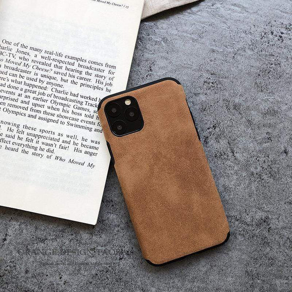 Retro Alcantara Shockproof Protective Designer iPhone Case For iPhone 12 SE 11 Pro Max X XS Max XR 7 8 Plus - techypopcom