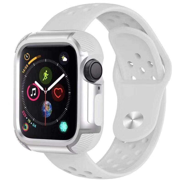 Sport Breathable Silicone Compatible With Apple Watch Band Strap For iWatch Series 4/3/2/1 - techypopcom