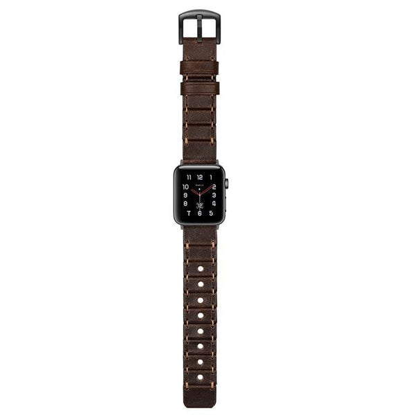 Stitched Leather Designer Apple Watch Band Strap For iWatch Series 4/3/2/1 - techypopcom