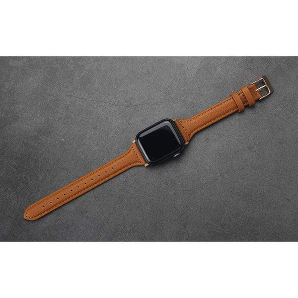 Slim Leather Compatible With Apple Designer Watch Band Strap For iWatch Series 4/3/2/1 Fabric - techypopcom