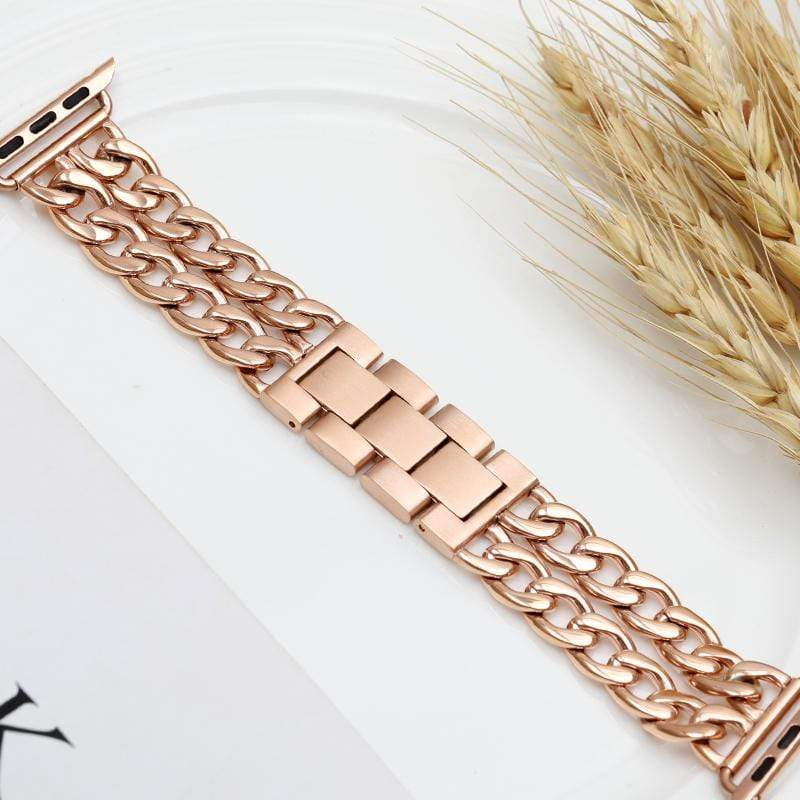 Gold Chain Designer Apple Watch Band Strap For iWatch Series 4/3/2/1 - techypopcom