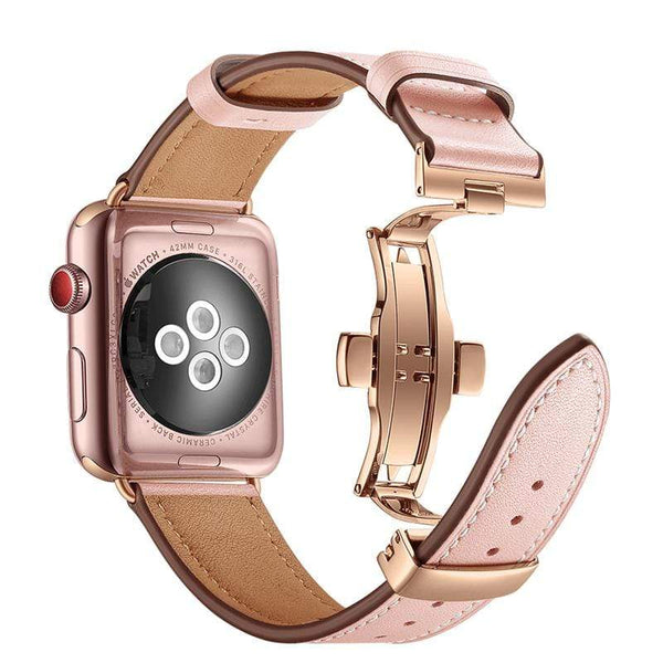 Luxury Leather Designer Apple Watch Band Strap For iWatch Series 4/3/2/1 - techypopcom