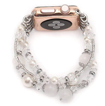 Load image into Gallery viewer, Rose Gold Jewelry Stretchable Compatible With Apple Watch Band Strap For iWatch Series 4/3/2/1 - techypopcom