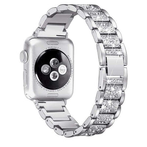 Metallic Diamond Compatible With Apple Designer Watch Band Strap For iWatch Series 4/3/2/1 - techypopcom