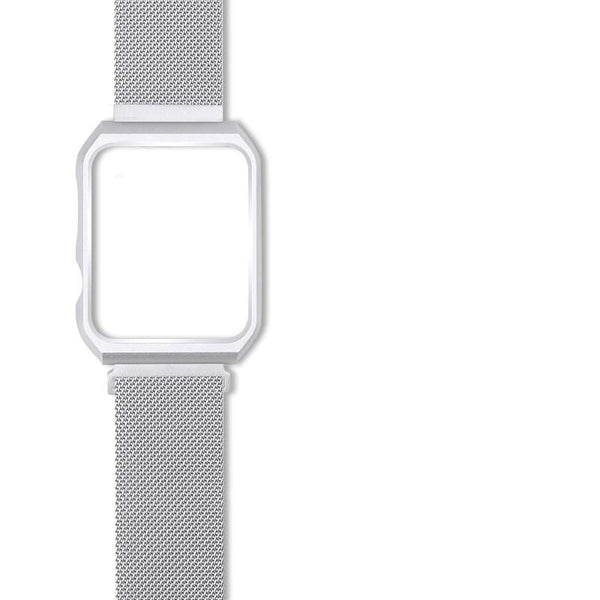 Metallic Stainless Steel Designer Apple Watch Band Strap For iWatch Series 4/3/2/1 - techypopcom