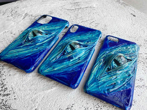 Aqua Devil Eyes Designer iPhone Case For iPhone SE 11 Pro Max X XS Max XR 7 8 Plus - techypopcom