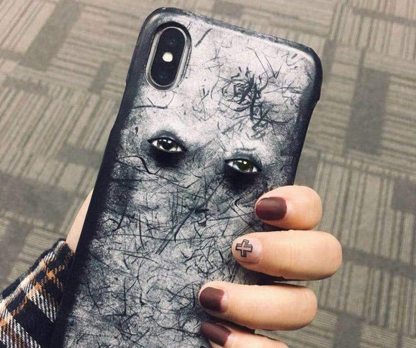 The Eyes Leather Handmade Protective Designer iPhone Case For iPhone SE 11 Pro Max X XS Max XR 7 8 Plus - techypopcom
