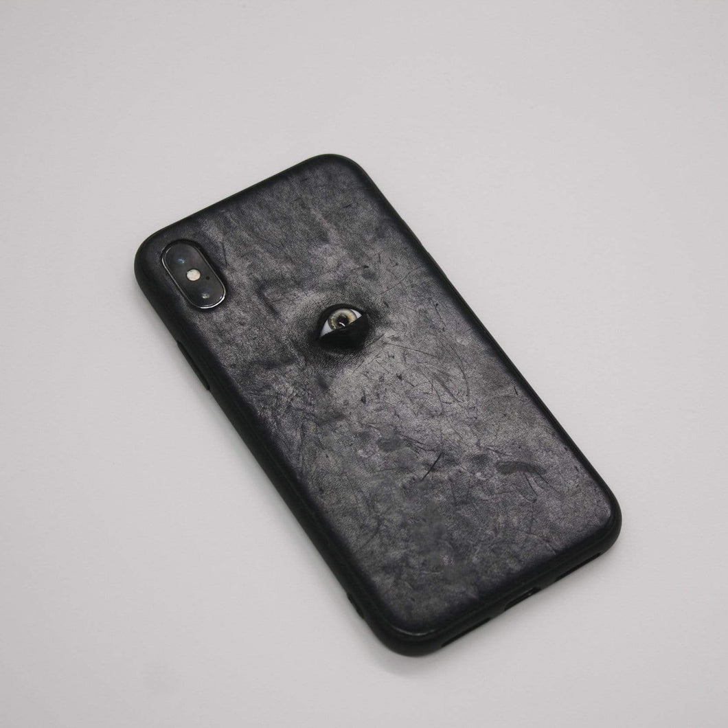 The One Eye Leather Handmade Protective Designer iPhone Case For iPhone SE 11 Pro Max X XS Max XR 7 8 Plus - techypopcom