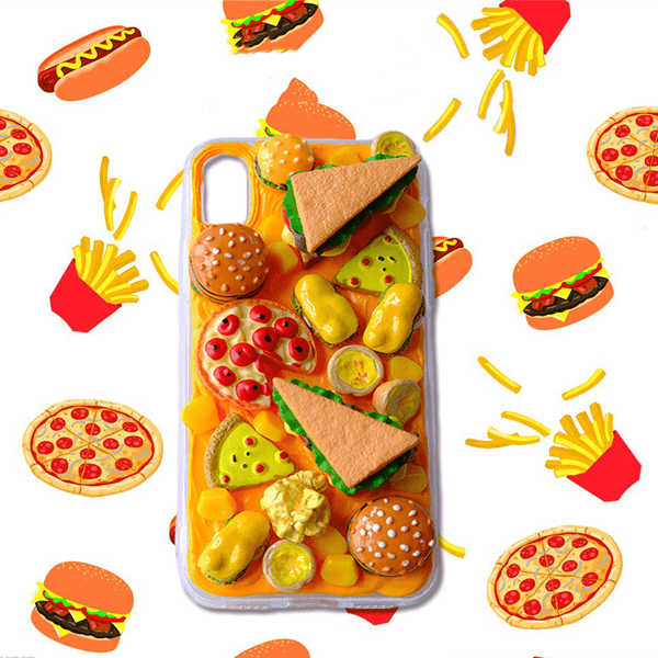 techypopcom iPhone Case iPhone SE (2nd Gen) Just Burgers and Pizza Handmade Designer iPhone Case For iPhone SE 11 Pro Max X XS Max XR 7 8 Plus