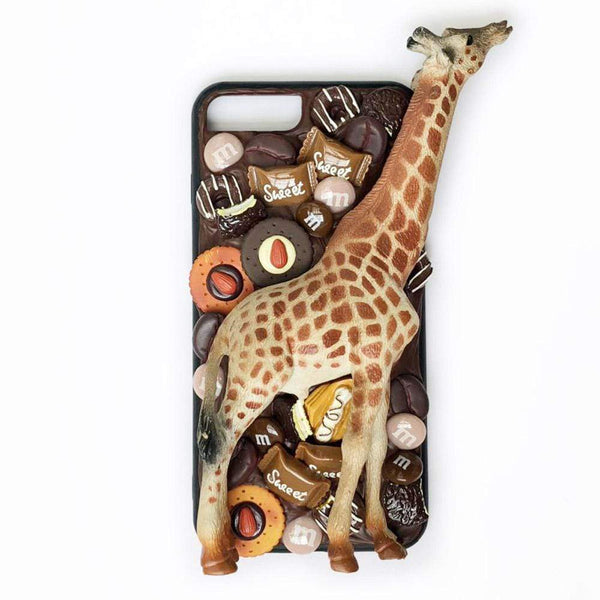 techypopcom iPhone Case iPhone SE (2nd Gen) Long Neck Giraffe Handmade Designer iPhone Case For iPhone SE 11 Pro Max X XS Max XR 7 8 Plus