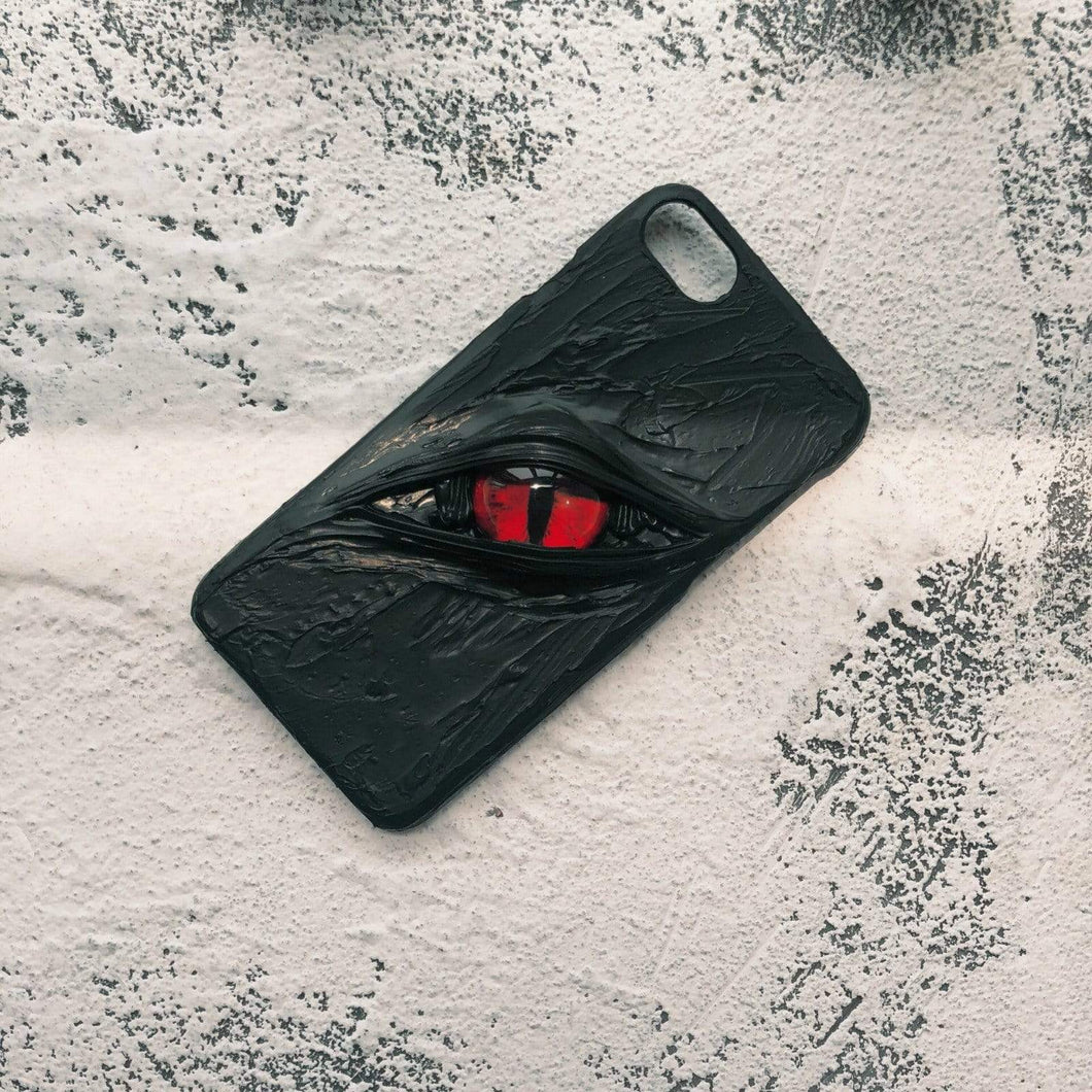 Red Cat Eye Handmade Designer iPhone Case For iPhone SE 11 Pro Max X XS Max XR 7 8 Plus - techypopcom