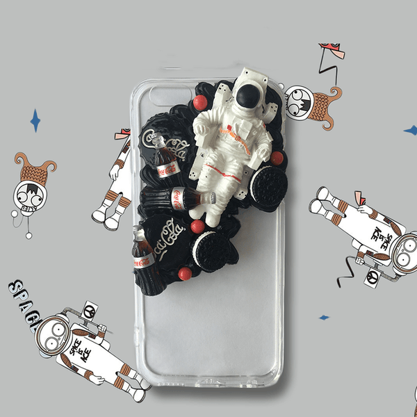techypopcom iPhone Case iPhone SE (2nd Gen) The Astronaut Handmade Designer iPhone Case For iPhone SE 11 Pro Max X XS Max XR 7 8 Plus