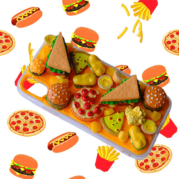 techypopcom iPhone Case Just Burgers and Pizza Handmade Designer iPhone Case For iPhone SE 11 Pro Max X XS Max XR 7 8 Plus
