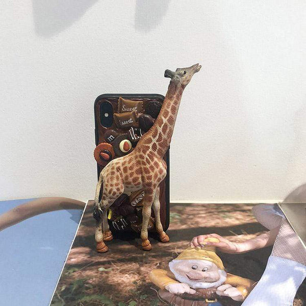 techypopcom iPhone Case Long Neck Giraffe Handmade Designer iPhone Case For iPhone SE 11 Pro Max X XS Max XR 7 8 Plus