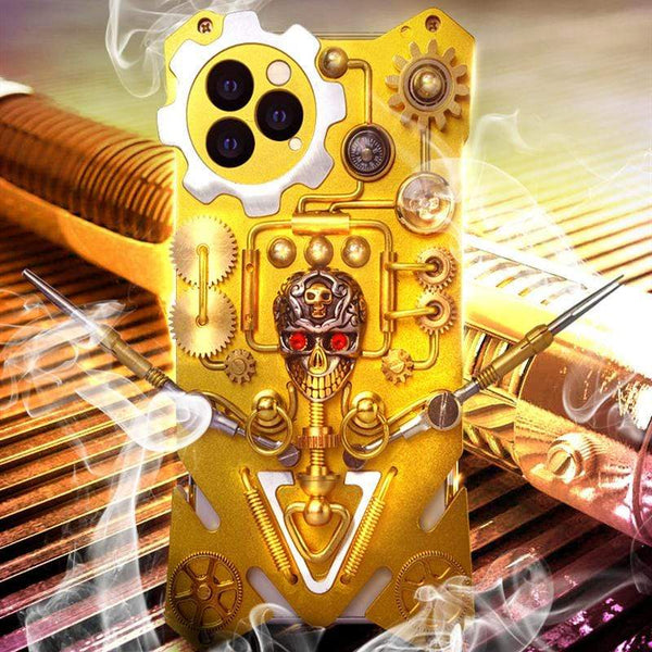 Mechanical Robot Metal Protective Designer iPhone Case For iPhone SE 11 Pro Max X XS Max XR 7 8 Plus - techypopcom