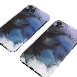 Smoke Paint Soft Silicone Shockproof Protective Designer iPhone Case For iPhone SE 11 Pro Max X XS Max XR 7 8 Plus - techypopcom