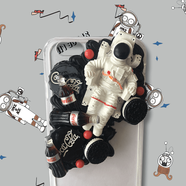 techypopcom iPhone Case The Astronaut Handmade Designer iPhone Case For iPhone SE 11 Pro Max X XS Max XR 7 8 Plus