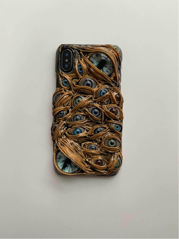 The Eyes Glow in the Dark Handmade Designer iPhone Case For iPhone SE 11 Pro Max X XS Max XR 7 8 Plus - techypopcom