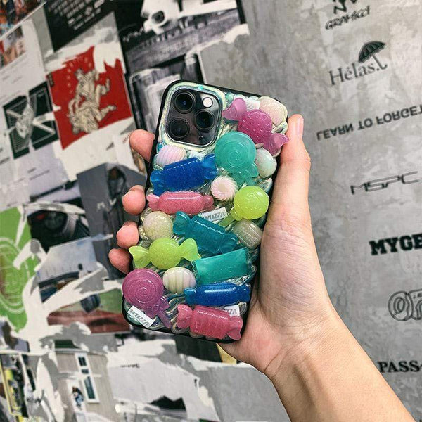techypopcom iPhone SE (2nd Gen) The Candy Shop Handmade Designer iPhone Case For iPhone SE 11 Pro Max X XS Max XR 7 8 Plus