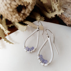 Teardrop Earrings | Tanzanite | Sterling Silver