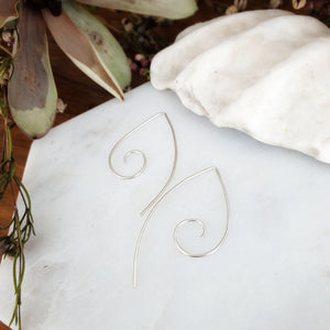 Small Spiral Hoop Earrings | Sterling Silver