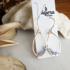 Teardrop Earrings | Tanzanite | 14k Gold Fill