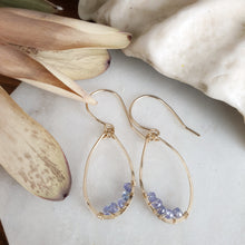 Load image into Gallery viewer, Teardrop Earrings | Tanzanite | 14k Gold Fill