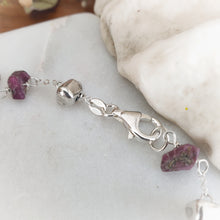 Load image into Gallery viewer, Raw Gemstone Bracelet | Ruby | Sterling Silver