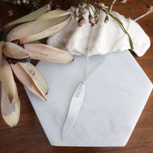 Load image into Gallery viewer, Gum Leaf Necklace | Aquamarine | Sterling Silver