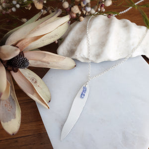 Gum Leaf Necklace | Tanzanite | Sterling Silver